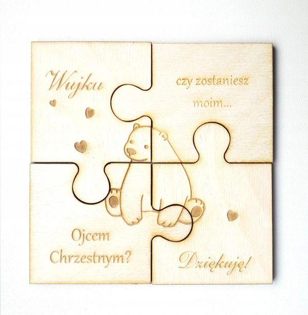 Puzzle dla Ojca Chrzestnego na pamiątkę