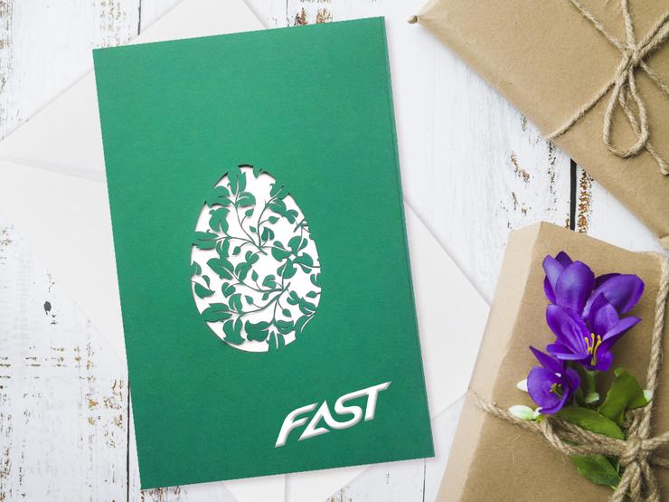Karnety wielkanocne z Logo firmy - wzory botaniczne