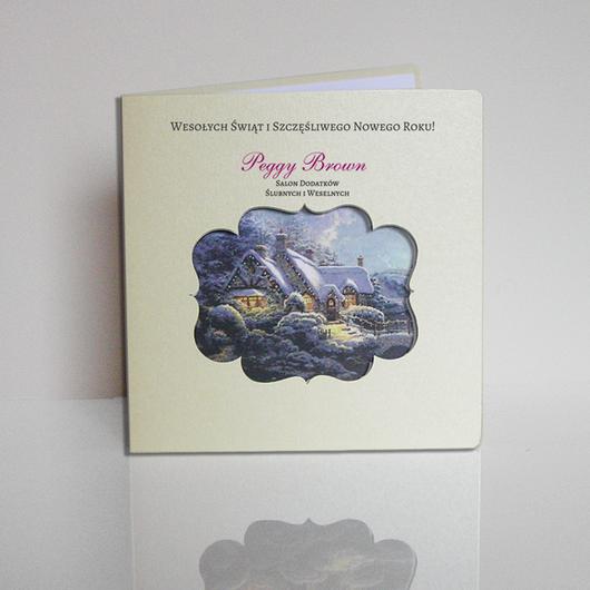 Laserowe kartki świąteczne dla firm - LSBN005