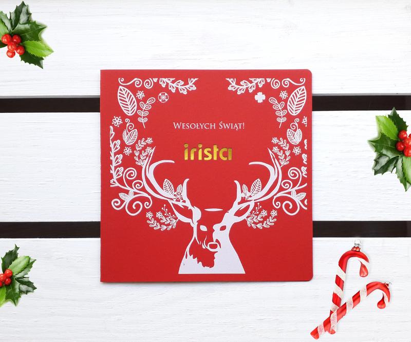 Kartki Świąteczne Biznesowe z reniferem