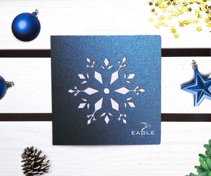 Laserowe kartki świąteczne dla firm - LSBN019