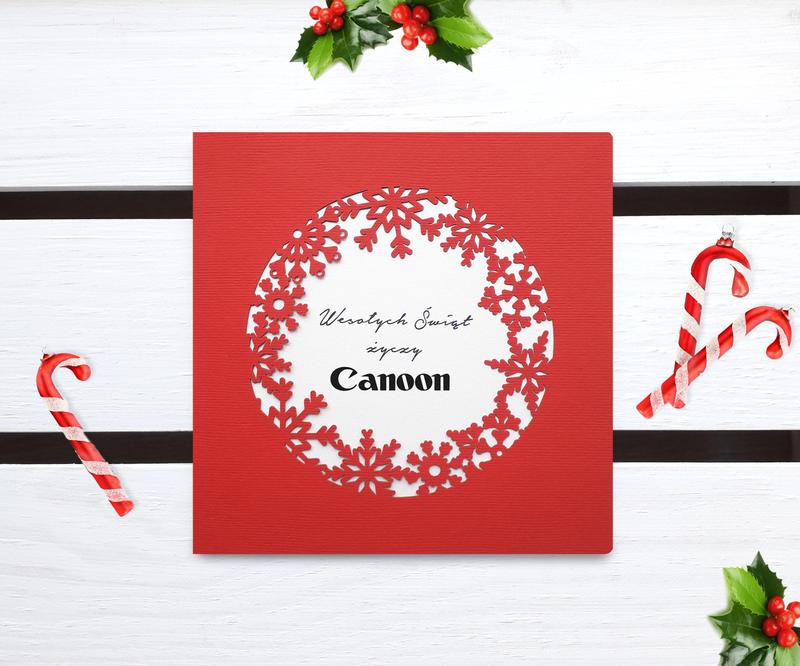 Laserowe kartki świąteczne dla firm - LSBN208