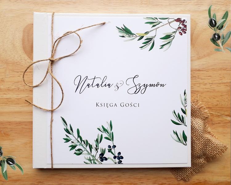 Księga gości weselnych - Gałązka oliwna