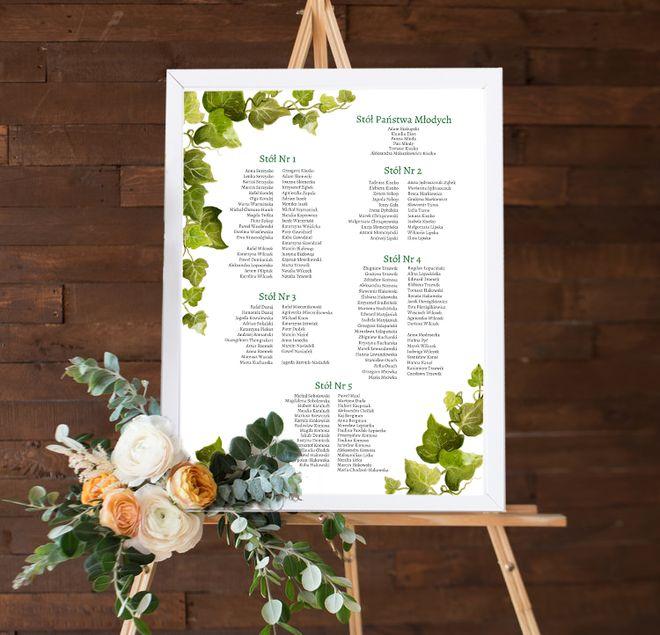 Logistyka wesela - plan stołów