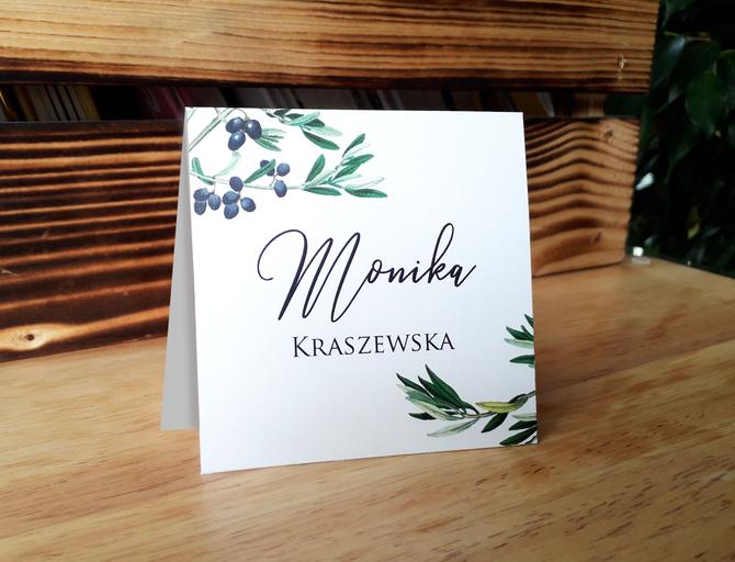 Winietki weselne z oliwką  - Gałązka oliwna