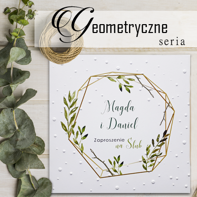 Zaproszenie na ślub - Geometryczne