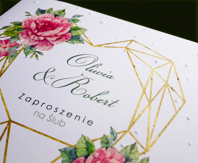 Zaproszenie ślubne Cdr 09 Vintage Rose Zaproszenia Winietki