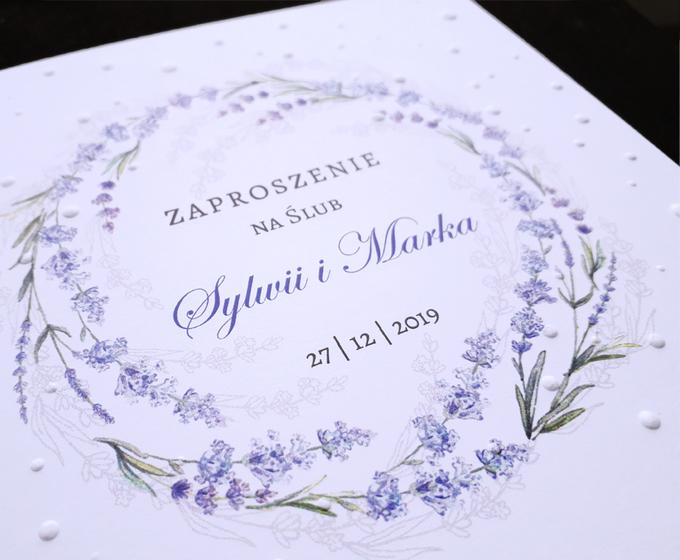 Zaproszenie ślubne Cdr 08 Lawendowy Wianek Zaproszenia Winietki