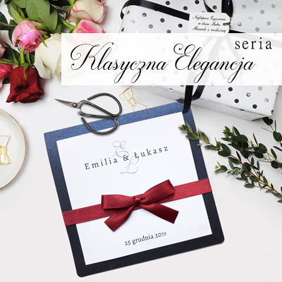 Zaproszenia na ślub - klasyczna elegancja